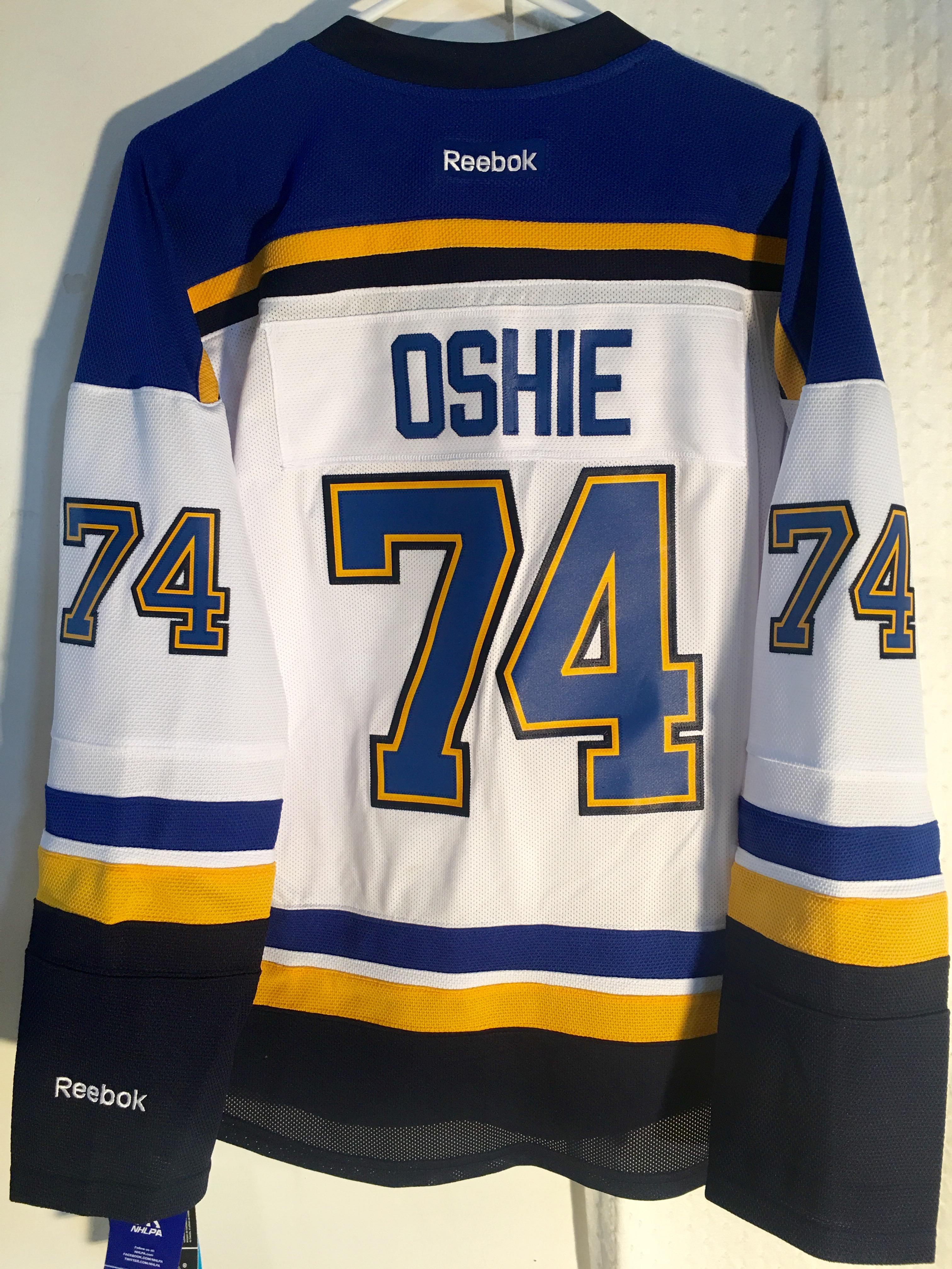 best service 4945f 2c07b Reebok Women's Premier NHL Jersey St. Louis Blues T.J. Oshie ...