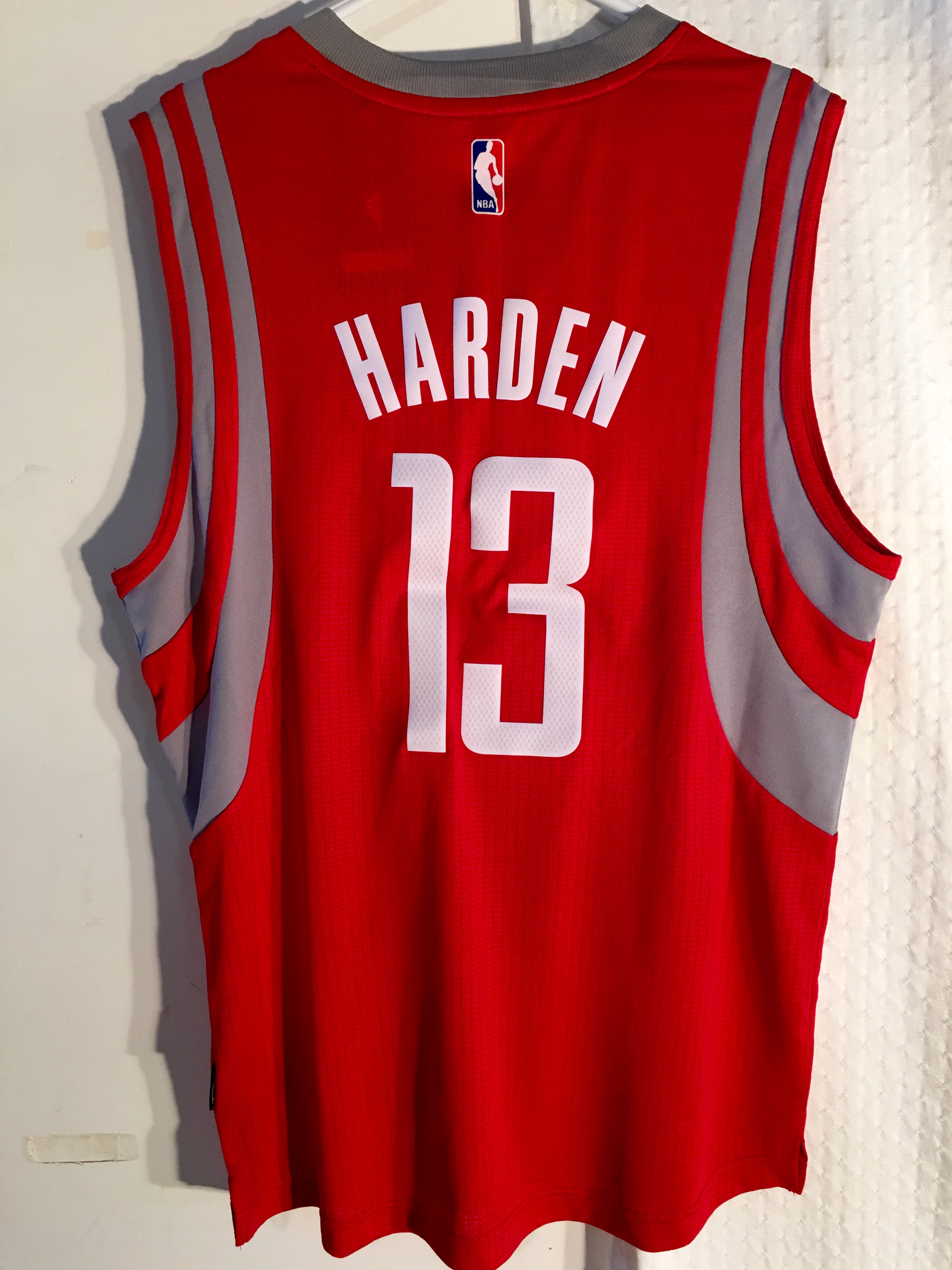 Details about Adidas Swingman 2015 16 Jersey Houston Rockets James Harden Red sz XL