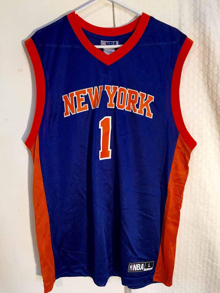 da9bc973 Adidas NBA Jersey New York Knicks Amare Stoudemire Blue Throwback sz ...