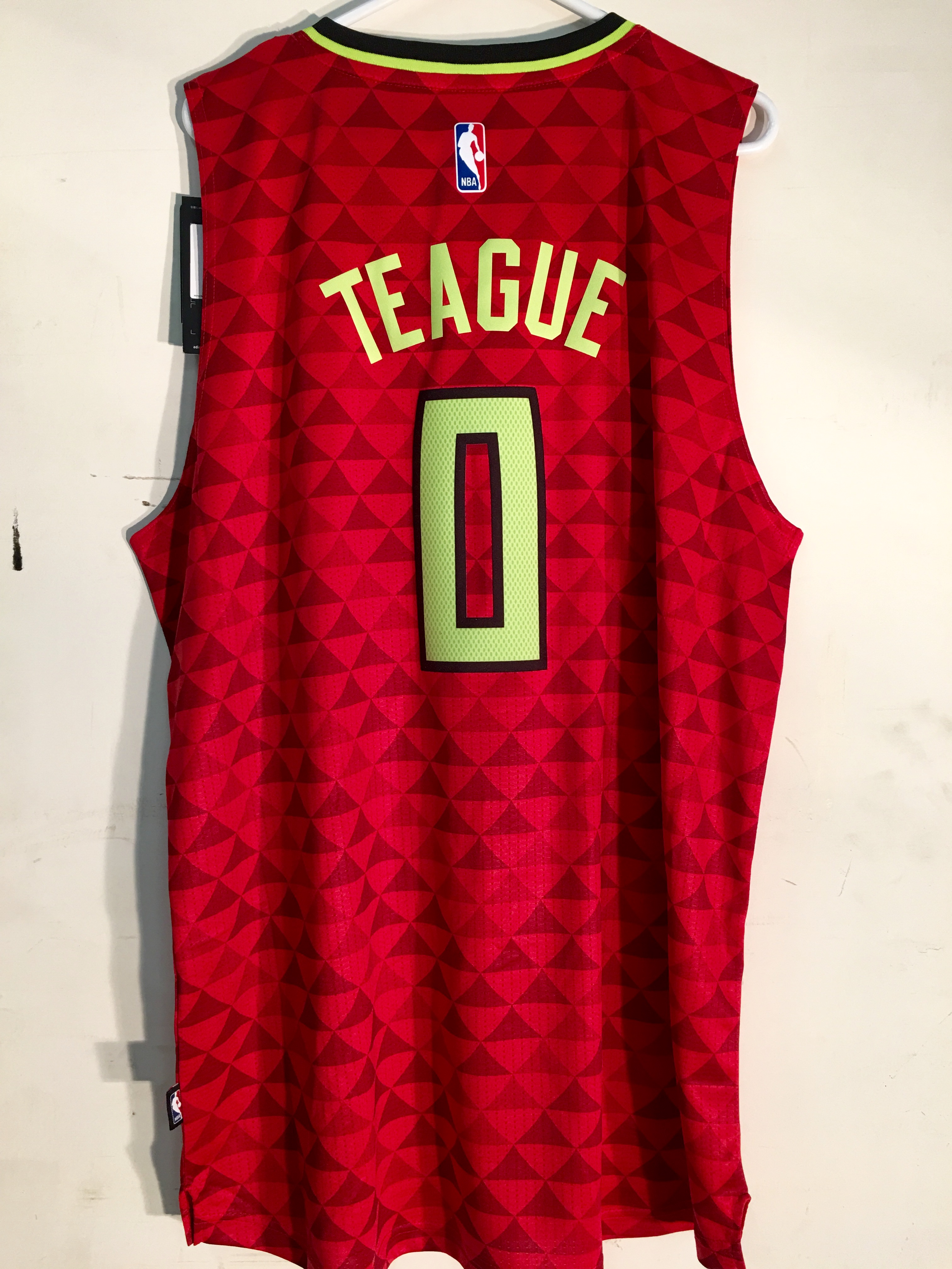 Details about Adidas Swingman 2015 16 NBA Jersey Atlanta Hawks Jeff Teague Red Alt sz M