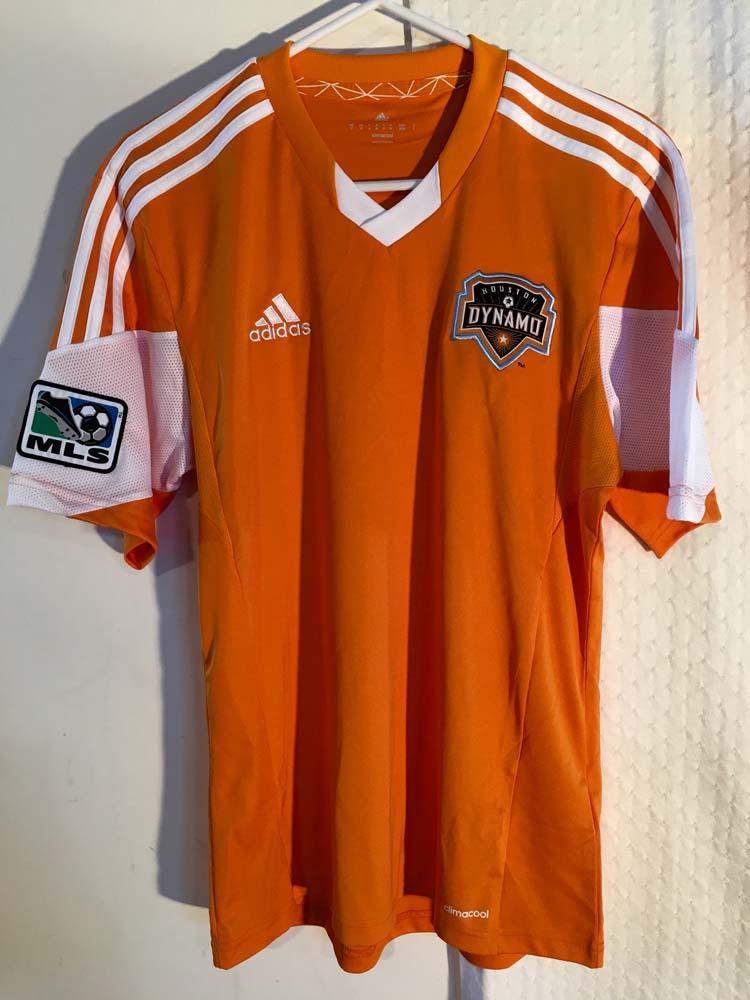 buy online cd878 f1e5f Details about Adidas Authentic MLS Jersey Houston Dynamo Team Orange sz M
