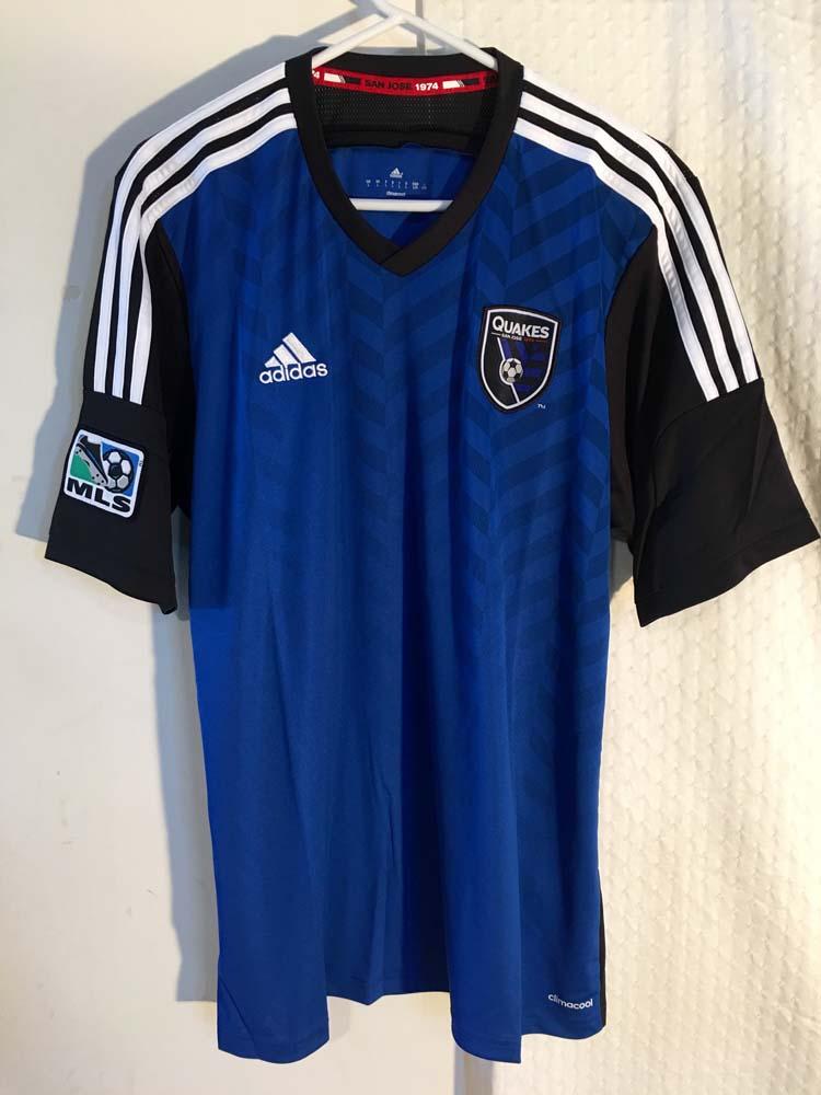 22511351592 Adidas Authentic MLS Jersey San Jose Earthquakes Team Blue sz XL | eBay