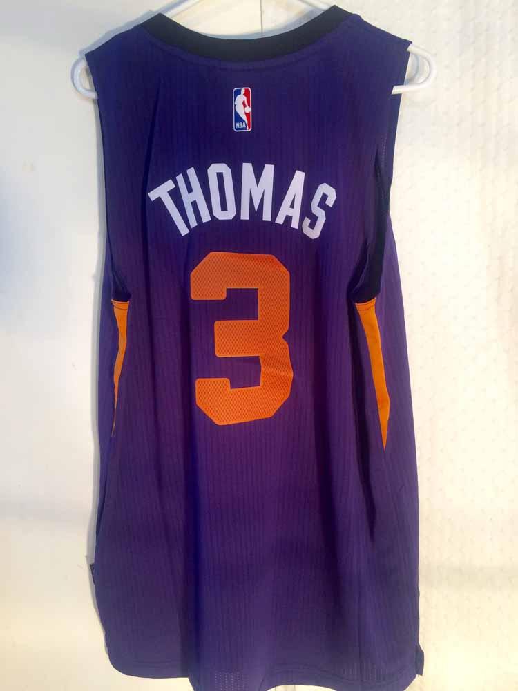 super popular 39c78 2c9ff Details about Adidas SWINGMAN 2014-15 NBA Jersey Suns Isaiah Thomas Purple  sz 2X