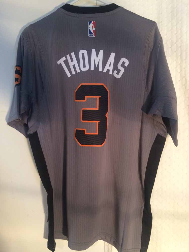 Adidas SWINGMAN 2014-15 NBA Jersey Suns Isaiah Thomas Grey sz XL  14bc0191f