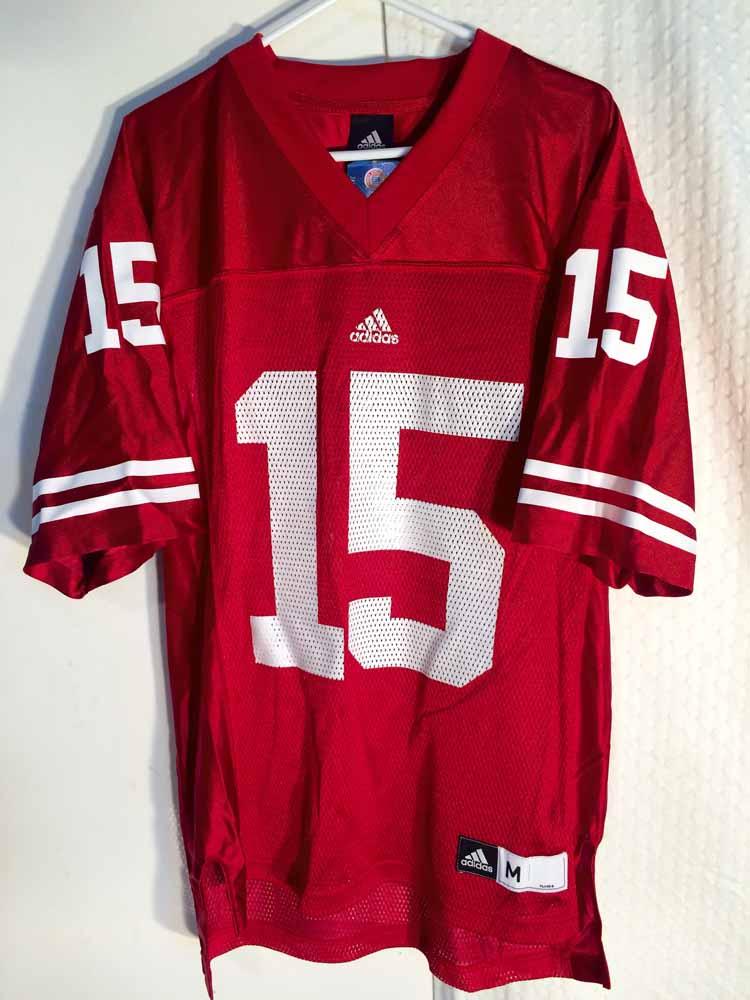 Adidas NCAA Jersey Wisconsin Badgers #15 Red sz L   eBay